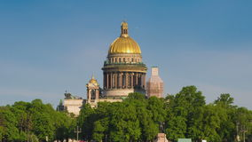 外部St以撒的大教堂,圣彼得堡,俄罗斯 股票视频