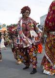 外面印地安人跳舞 免版税库存照片