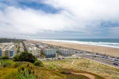 外面里士满,伟大的高速公路,海洋海滩,旧金山, Calif 免版税库存图片