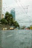 外面雨 免版税库存照片
