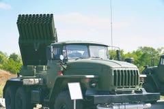 多个发射火箭系统 库存图片