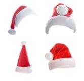 多个圣诞节的帽子 免版税库存照片