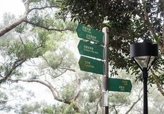 多个方向公园标志 库存照片