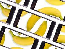 多个智能手机屏幕 免版税库存图片