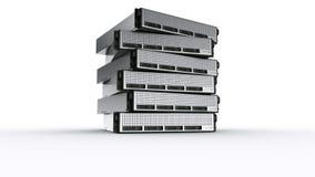 多个机架服务器 免版税库存照片
