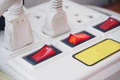 多个电源插座 免版税库存照片