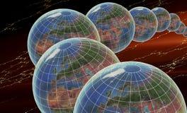 多个的地球 库存图片