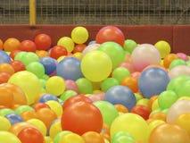 多个颜色球  免版税库存照片