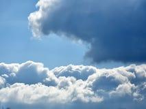 多云严重的天空 库存图片
