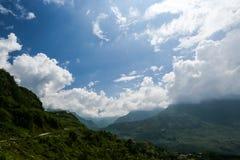 多云在yty -北越南 免版税图库摄影