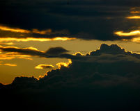 多云夜间 库存图片