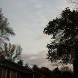 多云天在格林维尔南卡罗来纳 图库摄影