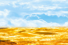 多云天空和金河 图库摄影