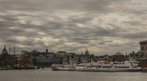 多云天空,斯德哥尔摩,瑞典 免版税库存照片