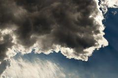 多云天空,特写镜头 免版税库存图片