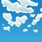 多云天空 向量例证