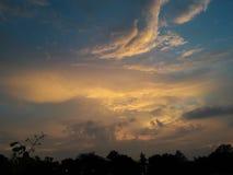 多云太阳集合 库存照片