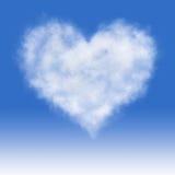 多云心脏。 库存图片