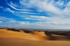 多云斯瓦科普蒙德沙漠风景,纳米比亚 免版税库存照片