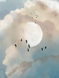多云日 向量例证