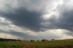 多云横向天空 免版税库存照片