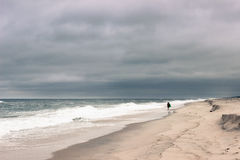 多云横向海洋 库存照片