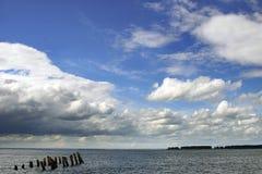多云横向 库存图片