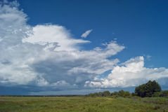 多云横向 图库摄影