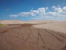 多云沙漠 免版税图库摄影