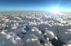 多云的天空 库存照片
