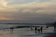 多云的海滩 图库摄影