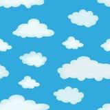 多云的背景 向量例证