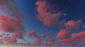 多云蓝天摘要背景, 3d例证 库存照片
