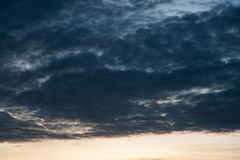 多云雨天空 免版税图库摄影
