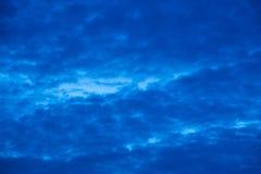 多云雨天空 库存图片