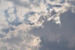 多云风景的天空 库存照片