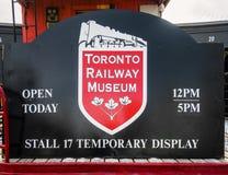 多伦多交通博物馆标志 库存图片