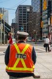 多伦多公车局的官员 库存照片