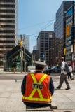 多伦多公车局的官员 免版税库存图片