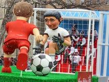 多伦多圣诞老人游行橄榄球2016年 免版税库存图片