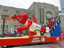 多伦多圣诞老人游行篮球2016年 免版税库存图片