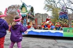 2013年多伦多圣诞老人游行 库存照片