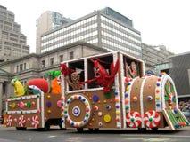 多伦多圣诞老人游行2009年 库存图片