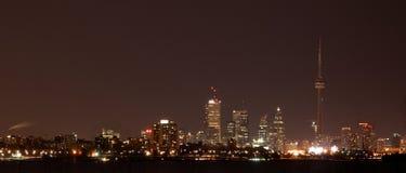 多伦多在晚上 库存照片
