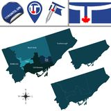 多伦多地图有邻里的 免版税库存图片