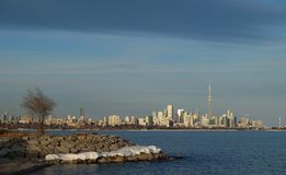 多伦多市地平线和加拿大国家电视塔 库存图片