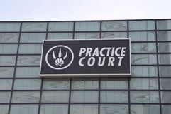 多伦多猛龙队实践法院  库存图片