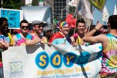 多伦多的第33每年骄傲游行 免版税库存照片