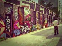 多伦多的街道画胡同 免版税库存图片