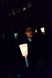 多伦多的黑人公共福格逊抗议者团结采取行动 免版税库存照片